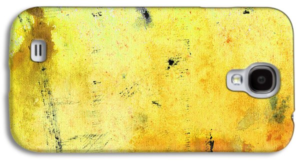 Abstract Expressionist Galaxy S4 Cases - Yellow Abstract Art - Lemon Haze - By Sharon Cummings Galaxy S4 Case by Sharon Cummings