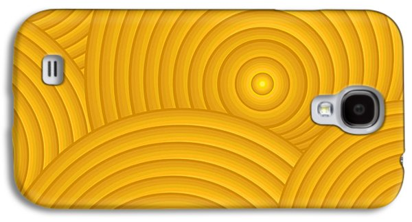 Swirly Galaxy S4 Cases - Yellow Abstract Galaxy S4 Case by Frank Tschakert