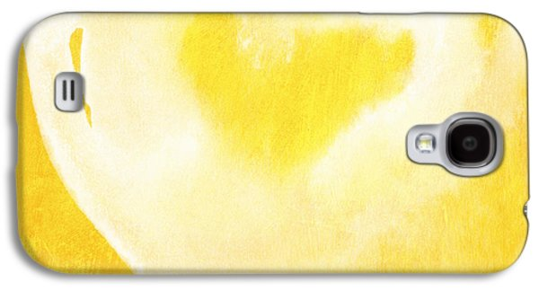 Sun Galaxy S4 Cases - Yellow and White Love Galaxy S4 Case by Linda Woods