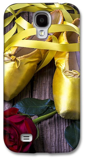 Dance Ballet Roses Galaxy S4 Cases - Yellow Ballet Shoes Galaxy S4 Case by Garry Gay