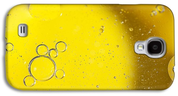 Bubbles Galaxy S4 Cases - Yellow Bubbles Galaxy S4 Case by Samuel Whitton
