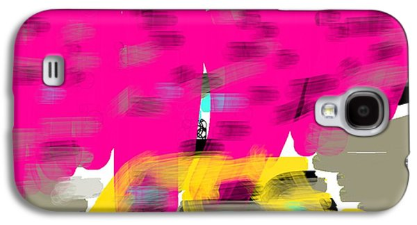 Etc. Digital Art Galaxy S4 Cases - Yellow Cab Big City Galaxy S4 Case by James Eye