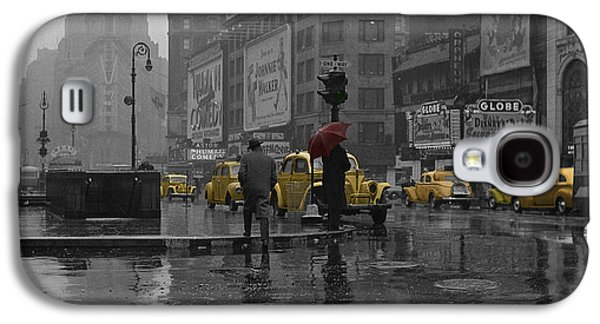 Buildings Galaxy S4 Cases - Yellow Cabs New York Galaxy S4 Case by Andrew Fare