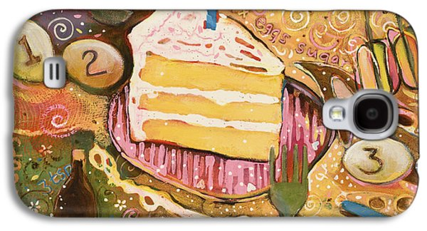 Birthday Galaxy S4 Cases - Yellow Cake Recipe Galaxy S4 Case by Jen Norton