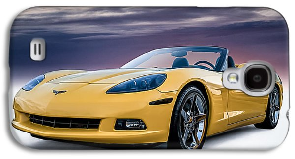 Automotive Digital Galaxy S4 Cases - Yellow Corvette Convertible Galaxy S4 Case by Douglas Pittman