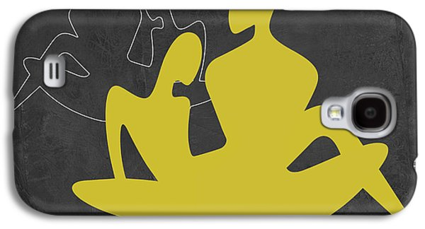 Love Making Galaxy S4 Cases - Yellow Couple Galaxy S4 Case by Naxart Studio