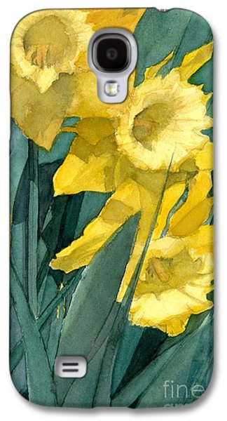 Yellow Daffodils Galaxy S4 Case by Greta Corens