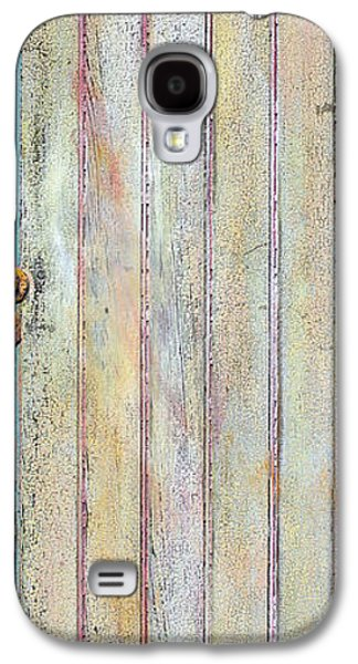 Blue Abstracts Sculptures Galaxy S4 Cases - Yellow Door Galaxy S4 Case by Asha Carolyn Young