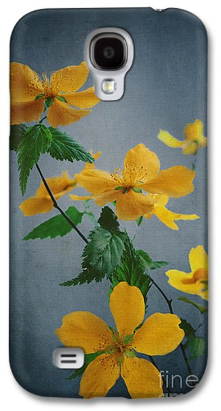Nature Abstract Pyrography Galaxy S4 Cases - Yellow Flowers Galaxy S4 Case by Jelena Jovanovic