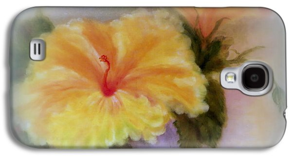 Yellow Hibiscus Galaxy S4 Case by Kay Novy