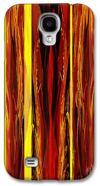 Inspired Paintings Galaxy S4 Cases - Yellow Light  Galaxy S4 Case by Irina Sztukowski
