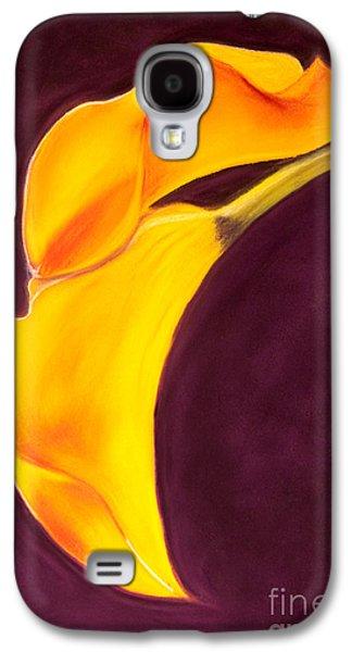 Original Art Pastels Galaxy S4 Cases - Yellow Lily Galaxy S4 Case by Dana Kern