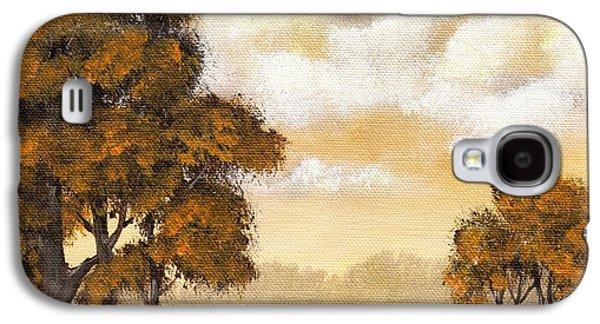 Thought Drawings Galaxy S4 Cases - Yellow Mood Galaxy S4 Case by Anastasiya Malakhova