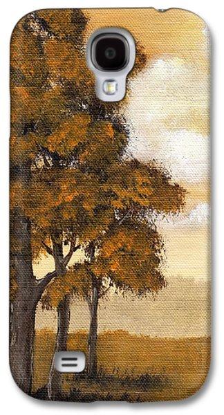 Surreal Landscape Drawings Galaxy S4 Cases - Yellow Mood Galaxy S4 Case by Anastasiya Malakhova
