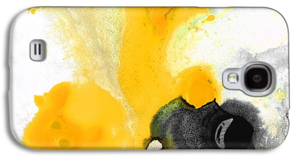 Abstract Expressionist Galaxy S4 Cases - Yellow Orange Abstract Art - The Dreamer - By Sharon Cummings Galaxy S4 Case by Sharon Cummings
