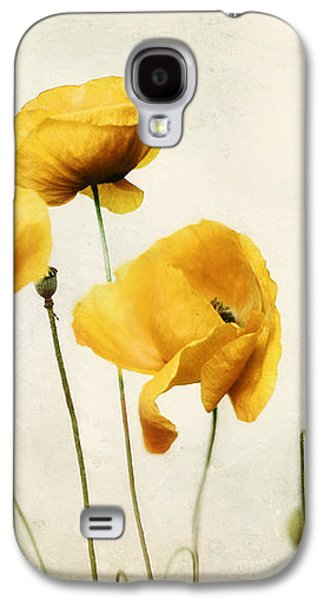 Acrylic Print Galaxy S4 Cases - Yellow Poppy Photography - Yellow Poppies - Yellow Flowers - Olive Green Yellow Floral Wall Art Galaxy S4 Case by Amy Tyler