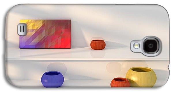 Yellow Red Blue Vase Still Life. Galaxy S4 Case by Jan Brons
