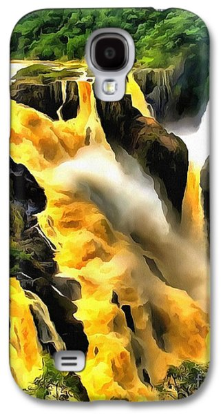 Catherine White Digital Galaxy S4 Cases - Yellow River Galaxy S4 Case by Catherine Lott