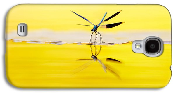 Demoiselles Galaxy S4 Cases - Yellow River Galaxy S4 Case by Roeselien Raimond