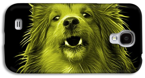 Dogs Digital Galaxy S4 Cases - Yellow Sheltie Dog Art 0207 - BB Galaxy S4 Case by James Ahn