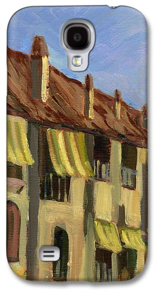 Yellow Shutters Costa Del Sol Galaxy S4 Case by Diane McClary