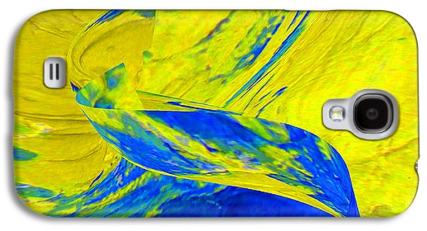Abstract Ceramics Galaxy S4 Cases - Yellow Stream Galaxy S4 Case by Gabriele Mueller