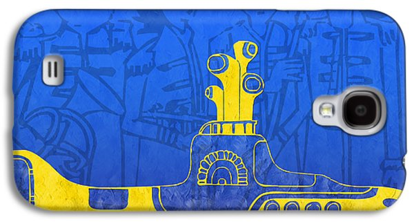 Beatles Galaxy S4 Cases - Yellow Submarine Galaxy S4 Case by Andee Design