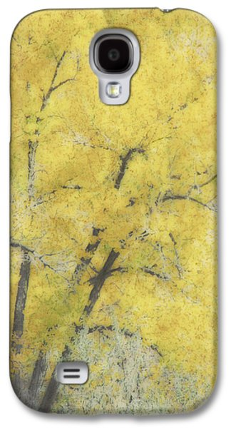 Paint Photograph Galaxy S4 Cases - Yellow Trees Galaxy S4 Case by Ann Powell