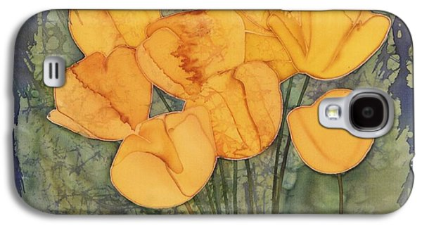 Dye Tapestries - Textiles Galaxy S4 Cases - Yellow Tulips Galaxy S4 Case by Carolyn Doe