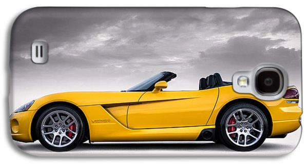 Yellow Viper Roadster Galaxy S4 Case by Douglas Pittman