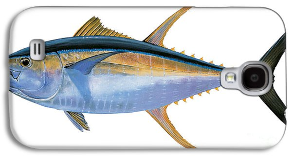 Wahoo Galaxy S4 Cases - Yellowfin Tuna Galaxy S4 Case by Carey Chen