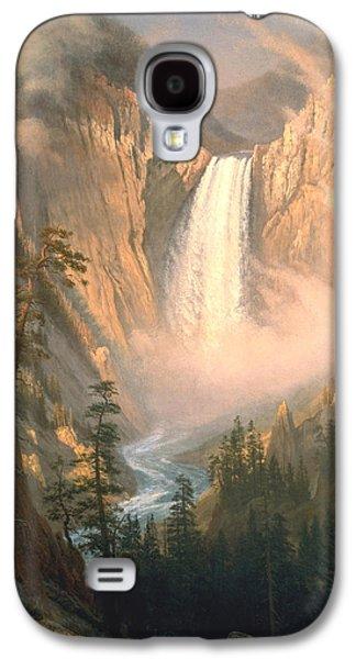 Yellowstone Digital Galaxy S4 Cases - Yellowstone Galaxy S4 Case by Albert Bierstadt