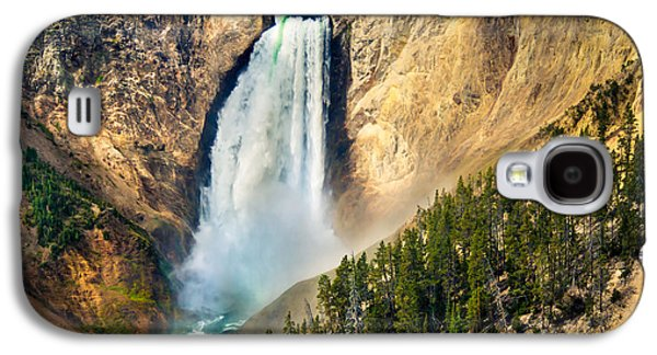 Surreal Landscape Galaxy S4 Cases - Yellowstone Lower Waterfalls Galaxy S4 Case by Robert Bales