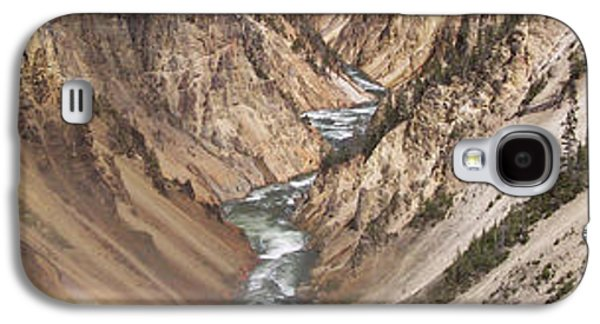 Bison Digital Art Galaxy S4 Cases - Yellowstone National Park Montana  3 Panel Composite Galaxy S4 Case by Thomas Woolworth