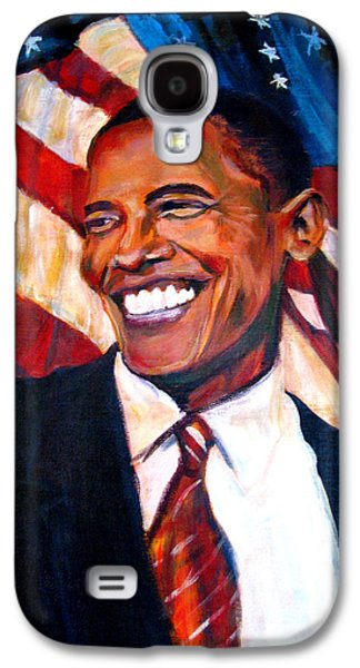Recently Sold -  - Barack Obama Galaxy S4 Cases - Yes We Can Galaxy S4 Case by Art Nomad Sandra  Hansen
