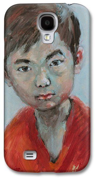Becky Kim Paintings Galaxy S4 Cases - Yeunsoo Galaxy S4 Case by Becky Kim
