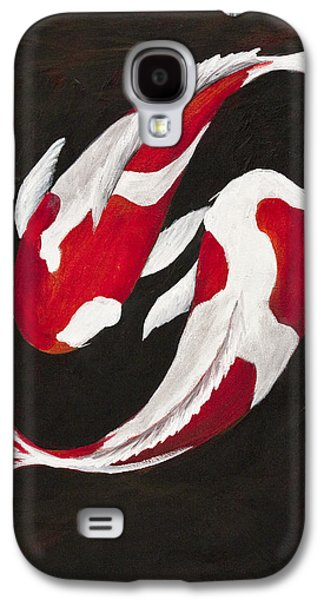 Yang Galaxy S4 Cases - Yin and Yang Galaxy S4 Case by Darice Machel McGuire