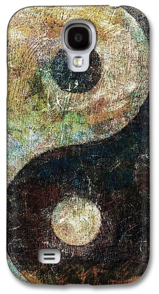 Symbol Paintings Galaxy S4 Cases - Yin and Yang Galaxy S4 Case by Michael Creese