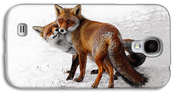 Red Fox Galaxy S4 Cases - Yin Yang _ Red Fox Love Galaxy S4 Case by Roeselien Raimond