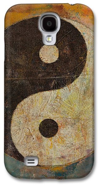 Symbol Paintings Galaxy S4 Cases - Yin Yang Galaxy S4 Case by Michael Creese