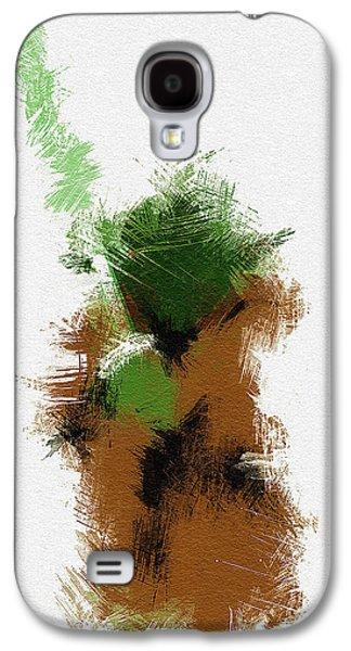 Character Portraits Galaxy S4 Cases - Yoda Galaxy S4 Case by Miranda Sether