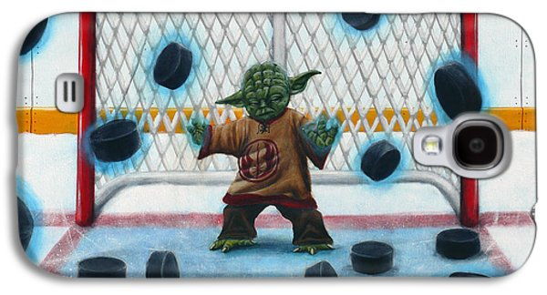 Science Fiction Paintings Galaxy S4 Cases - Yoda Saves Everything Galaxy S4 Case by Marlon Huynh