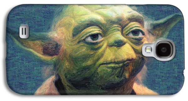 Galactic Paintings Galaxy S4 Cases - Yoda Galaxy S4 Case by Taylan Soyturk