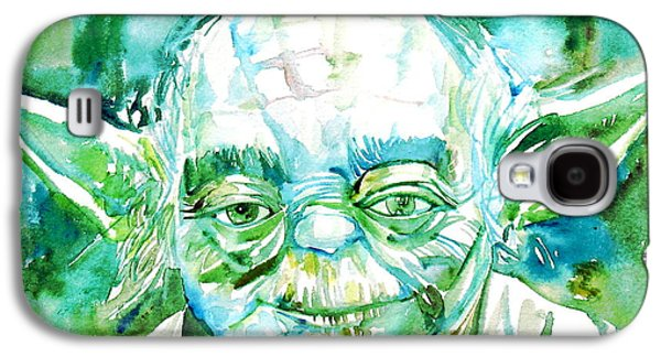 Illustration Paintings Galaxy S4 Cases - Yoda Watercolor Portrait Galaxy S4 Case by Fabrizio Cassetta