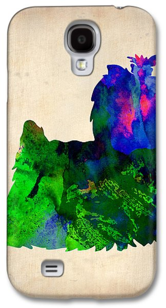 Puppies Galaxy S4 Cases - Yorkshire Terrier Watercolr Galaxy S4 Case by Naxart Studio
