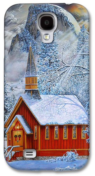 Sonora Paintings Galaxy S4 Cases - Yosemite Chapel Galaxy S4 Case by Jerry Graham