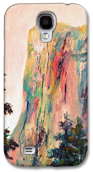 El Capitan Paintings Galaxy S4 Cases - Yosemite El Capitan Galaxy S4 Case by Carolyn Jarvis