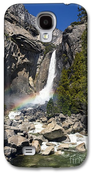 Spring Scenery Galaxy S4 Cases - Yosemite falls rainbow Galaxy S4 Case by Jane Rix