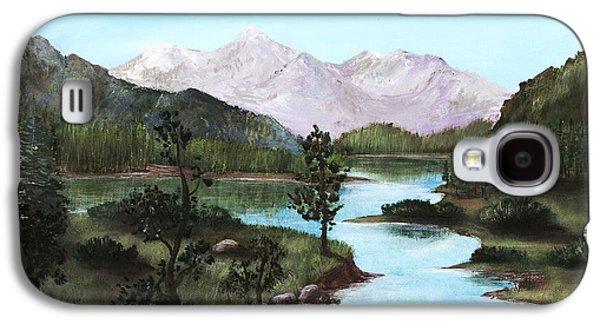 Park Scene Drawings Galaxy S4 Cases - Yosemite Meadow Galaxy S4 Case by Anastasiya Malakhova