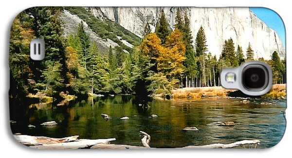 Half Dome Paintings Galaxy S4 Cases - Half Dome Yosemite National Park Galaxy S4 Case by Barbara Snyder